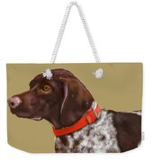 The Pooch With A Red Collar Weekender Tote Bag