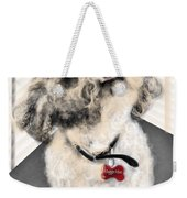 The Pooch With The Crooked Tooth Weekender Tote Bag