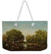 The Pool, Memory Of The Forest Of Chambord Weekender Tote Bag