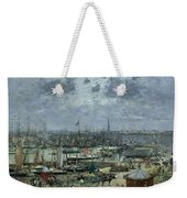 The Port Of Bordeaux Weekender Tote Bag by Eugene Louis Boudin