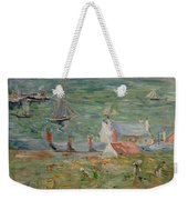 The Port Of Gorey On Jersey Weekender Tote Bag by Berthe Morisot