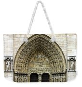 The Portal Of The Last Judgement Of Notre Dame De Paris Weekender Tote Bag by Fabrizio Troiani
