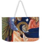 The Position Of Mary In The Tomb Fragment 1311 Weekender Tote Bag