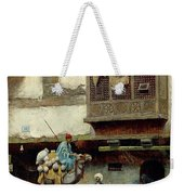 The Pottery Seller In Old City Weekender Tote Bag