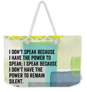 The Power To Speak- Contemporary Jewish Art By Linda Woods Weekender Tote Bag