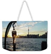 The Precision Of Sunset In The Harbour Weekender Tote Bag