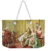 The Presentation Of The Young Mozart To Mme De Pompadour At Versailles Weekender Tote Bag