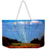 The Progression Of Progress - Electrified Weekender Tote Bag