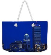 The Pru Lit Up In Red White And Blue For The Fourth Of July Weekender Tote Bag