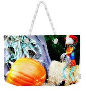 the Pumpkin and the Scarecrow Weekender Tote Bag
