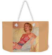 The Queen At Her Ease Weekender Tote Bag
