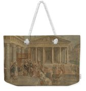 The Queen Of Sheba Before King Solomon Weekender Tote Bag