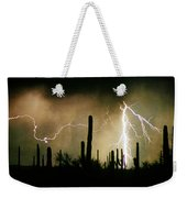The Quiet Southwest Desert Lightning Storm Weekender Tote Bag