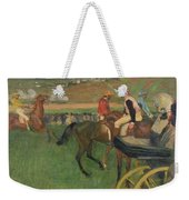 The Race Course Weekender Tote Bag by Edgar Degas