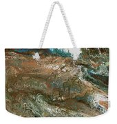 The Raging River-acrylic Pour#8 Weekender Tote Bag