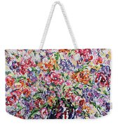 The Rainbow Flowers Weekender Tote Bag