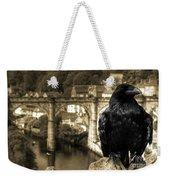 The Raven Of Knareborough Castle Weekender Tote Bag