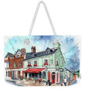 The Red Boat In Beaumaris Weekender Tote Bag