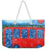 The Red Bus Weekender Tote Bag