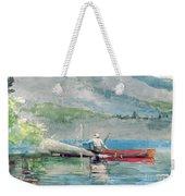 The Red Canoe Weekender Tote Bag