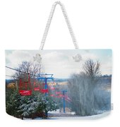 The Red Chairlift Weekender Tote Bag