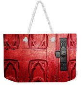The Red Church Door Weekender Tote Bag