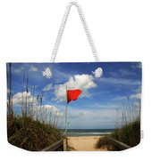 The Red Flag Weekender Tote Bag