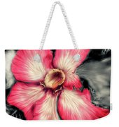 The Red Flower Weekender Tote Bag by Darren Cannell