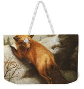The Red Fox Weekender Tote Bag
