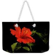 The Red Hibiscus Weekender Tote Bag
