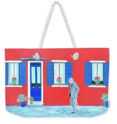 The Red House On The Island Of Burano Weekender Tote Bag