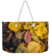 The Red Leaf Weekender Tote Bag