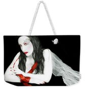The Red Lie - Self Portrait Weekender Tote Bag