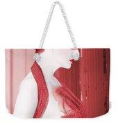 The Red Stripe - Self Portrait Weekender Tote Bag