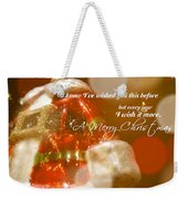 The Red Suit Quote Weekender Tote Bag
