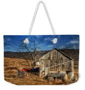 The Red Truck By The Barn Weekender Tote Bag