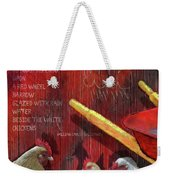 The Red Wheelbarrow Weekender Tote Bag