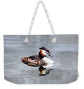 The Reflection Of A Grebe Weekender Tote Bag