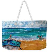 The Resting Boat And The Beach Holidays Weekender Tote Bag