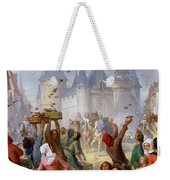 The Return Of Saint Louis Blanche Of Castille To Notre Dame Paris Weekender Tote Bag
