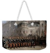 The Return Of The Troops To Paris From The Crimea Weekender Tote Bag by Emmanuel Masse