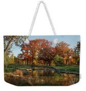 The Rich Autumn Colors In Forest Park. Weekender Tote Bag