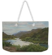 The Rio Grande Between Taos And Santa Fe Weekender Tote Bag
