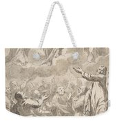 The Risen Christ Between The Virgin And St. Joseph Appearing To St. Peter And Other Apostles Weekender Tote Bag