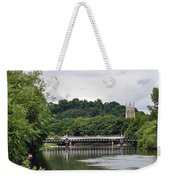 The River And Bridges At Burton On Trent Weekender Tote Bag