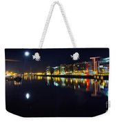 The River Liffey Night Romance Weekender Tote Bag