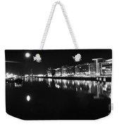 The River Liffey Night Romance Bw Weekender Tote Bag
