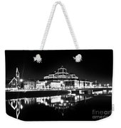 The River Liffey Reflections 2 Bw Weekender Tote Bag