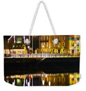 The River Liffey Reflections Weekender Tote Bag