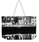 The River Liffey Reflections Bw Weekender Tote Bag